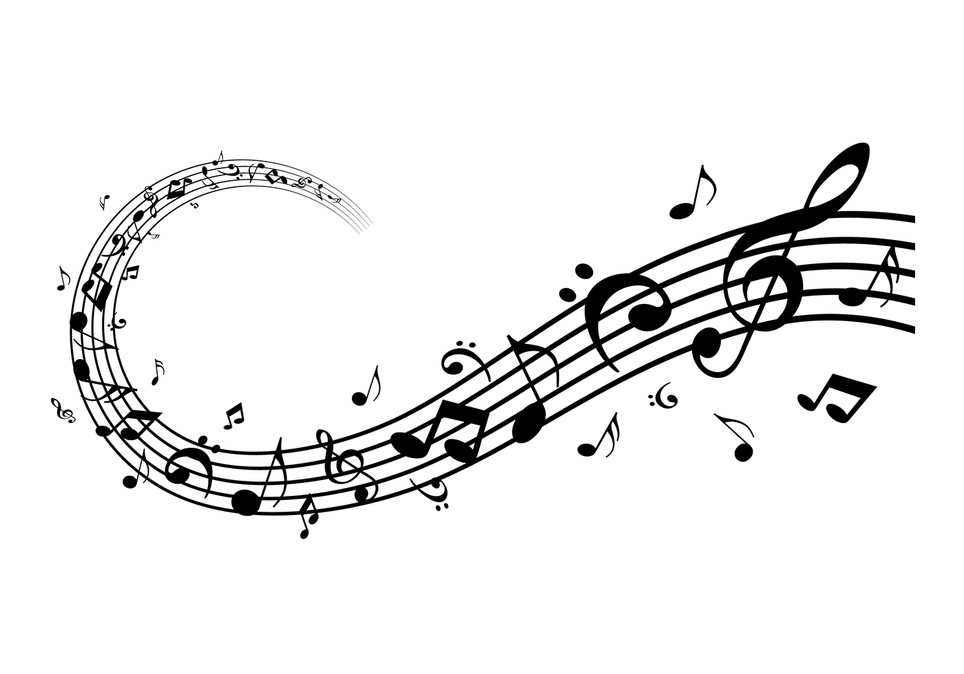 Music Staff Free Vector Art.