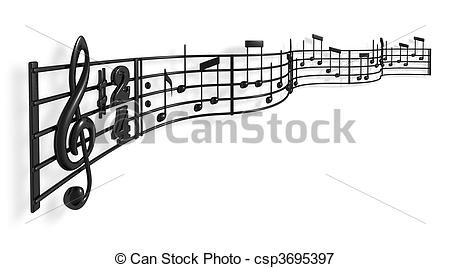 Stock Illustrations of Musical Notes.