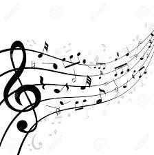 Risultati immagini per clipart note musicali bianco e nero.