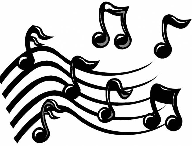 Music on clip art free music notes and musicals.