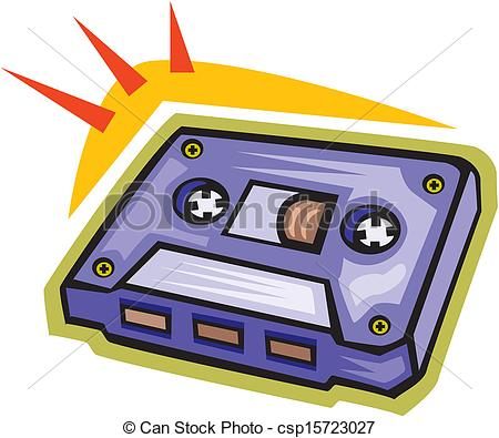 Vector Illustration of Cassette tape.