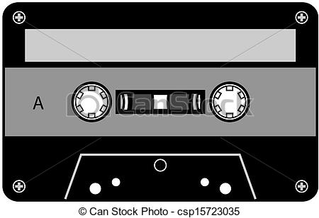 Vectors of Cassette tape.