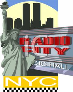 Statue of Liberty By Radio City Music Hall.