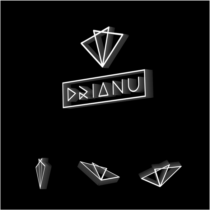 Musician Logo, icon for brand *Drianu*.