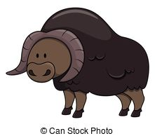 Vector Clip Art of Musk ox csp14827314.