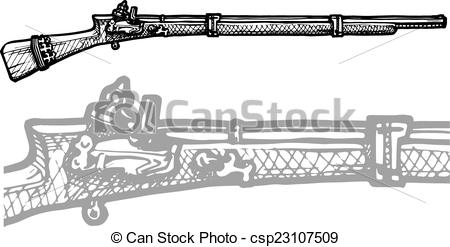 Musket Vector Clip Art EPS Images. 224 Musket clipart vector.