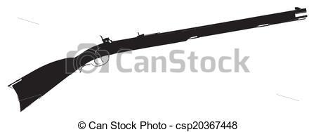 EPS Vector of Flintlock Musket.