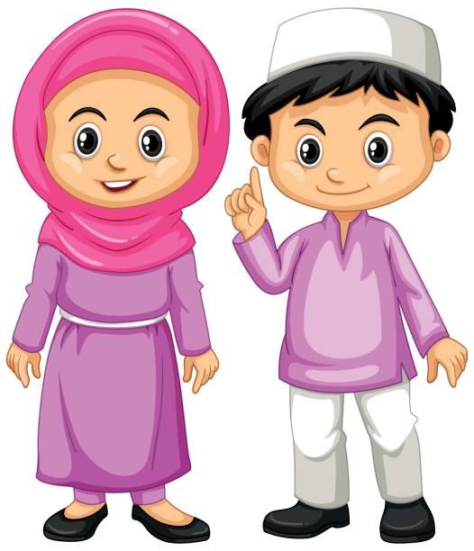 Cute Muslim Clipart.