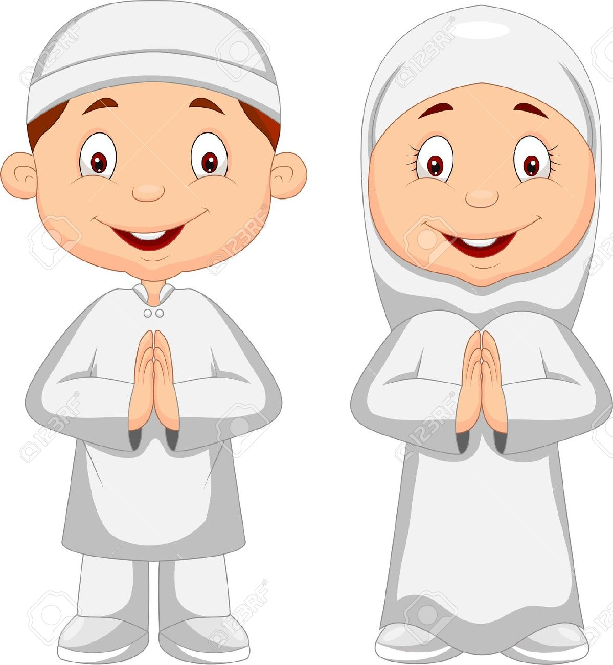Muslim Kid Cartoon Royalty Free Cliparts, Vectors, And Stock.