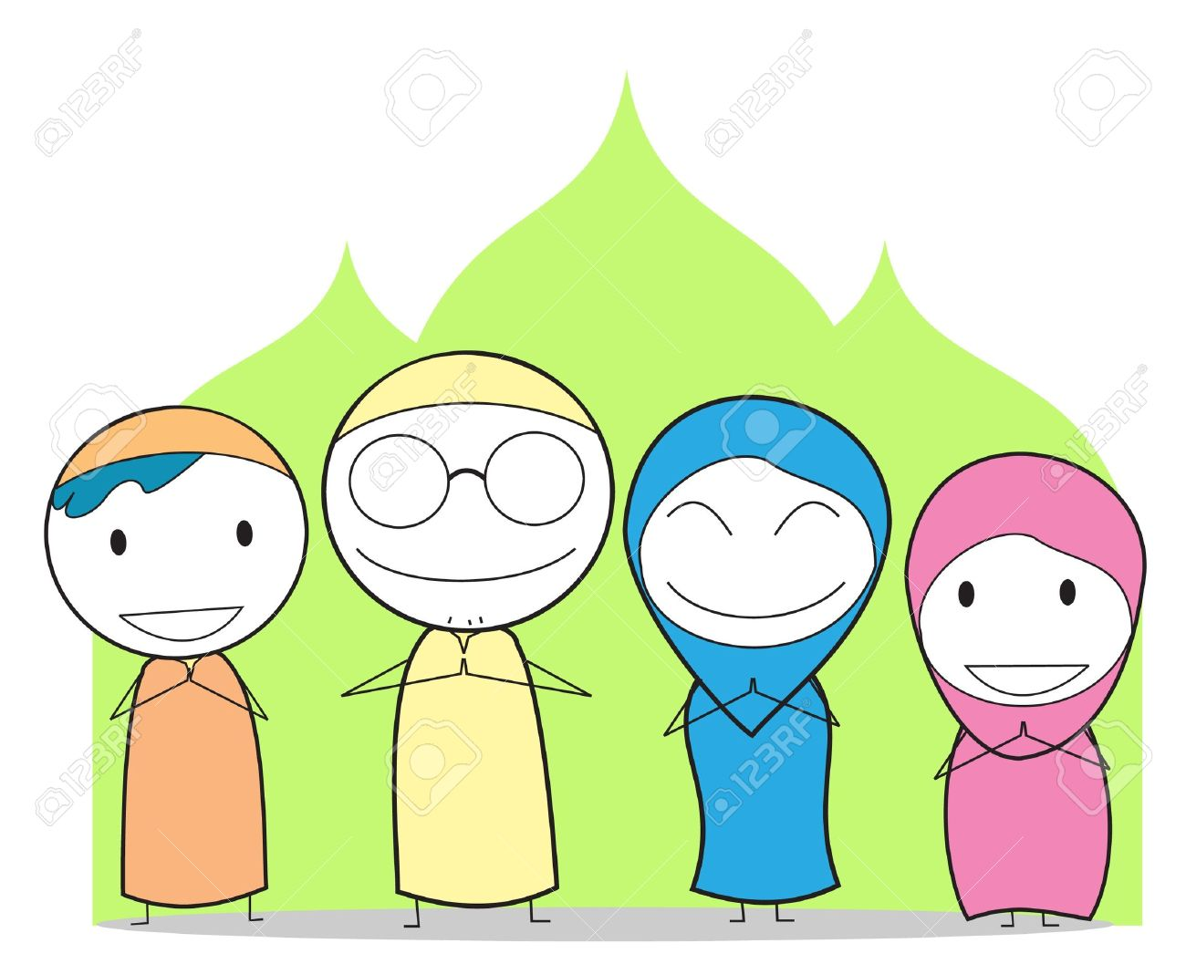 1,422 Muslim Family Cliparts, Stock Vector And Royalty Free Muslim.