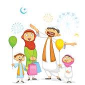 Muslim Family Clip Art, Vector Muslim Family.