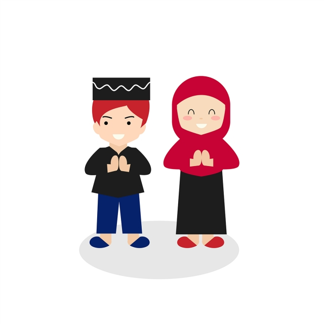 Couple Kid Celebration Ramadan, Ramadan, Kids, Muslim PNG.
