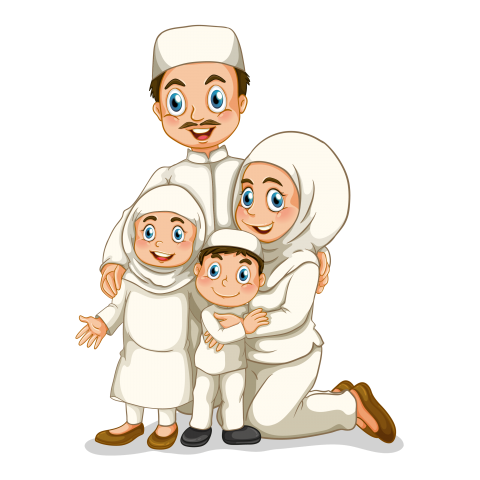 Download Muslim family png images background png.