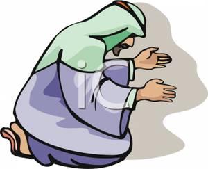 Muslim Man Praying.