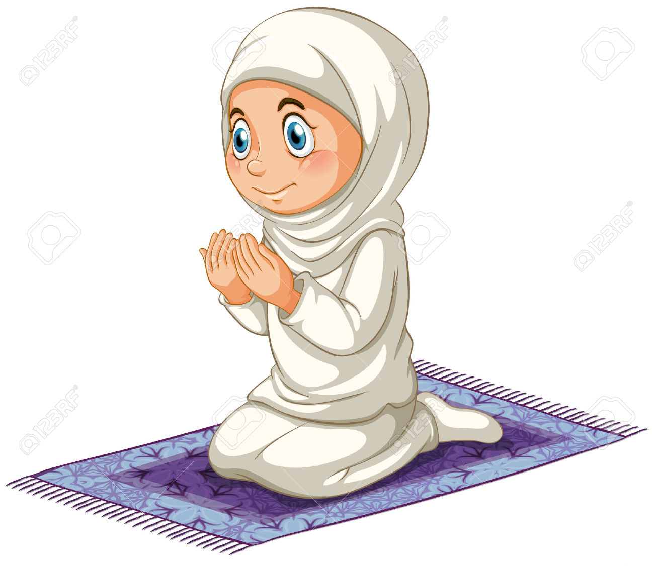 muslim praying clipart clipground