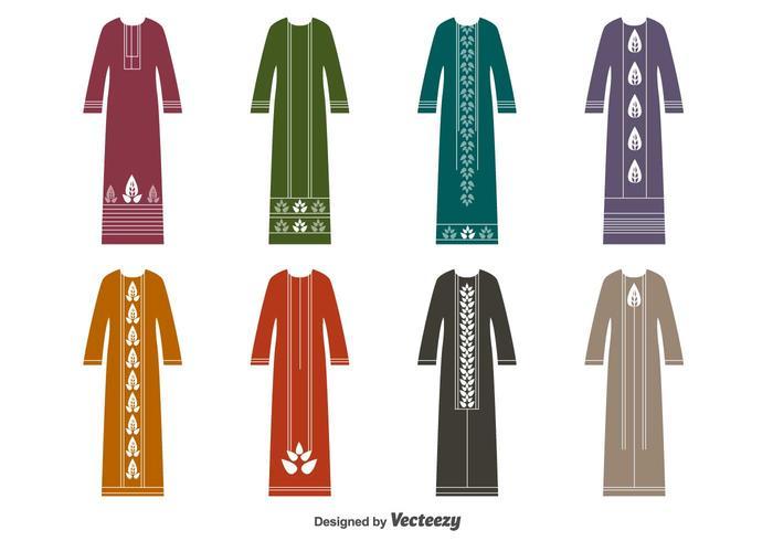 Muslim Dress Vector Set.
