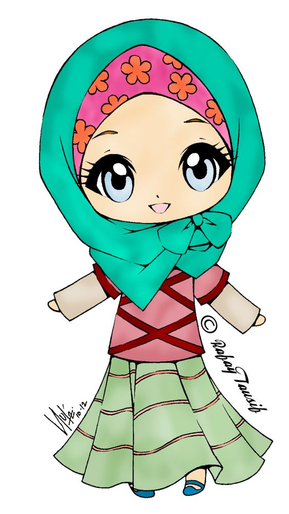 muslim girl clipart.