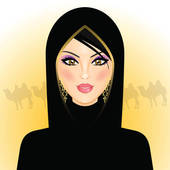 Muslim woman Clipart Vector Graphics. 1,413 muslim woman EPS clip.