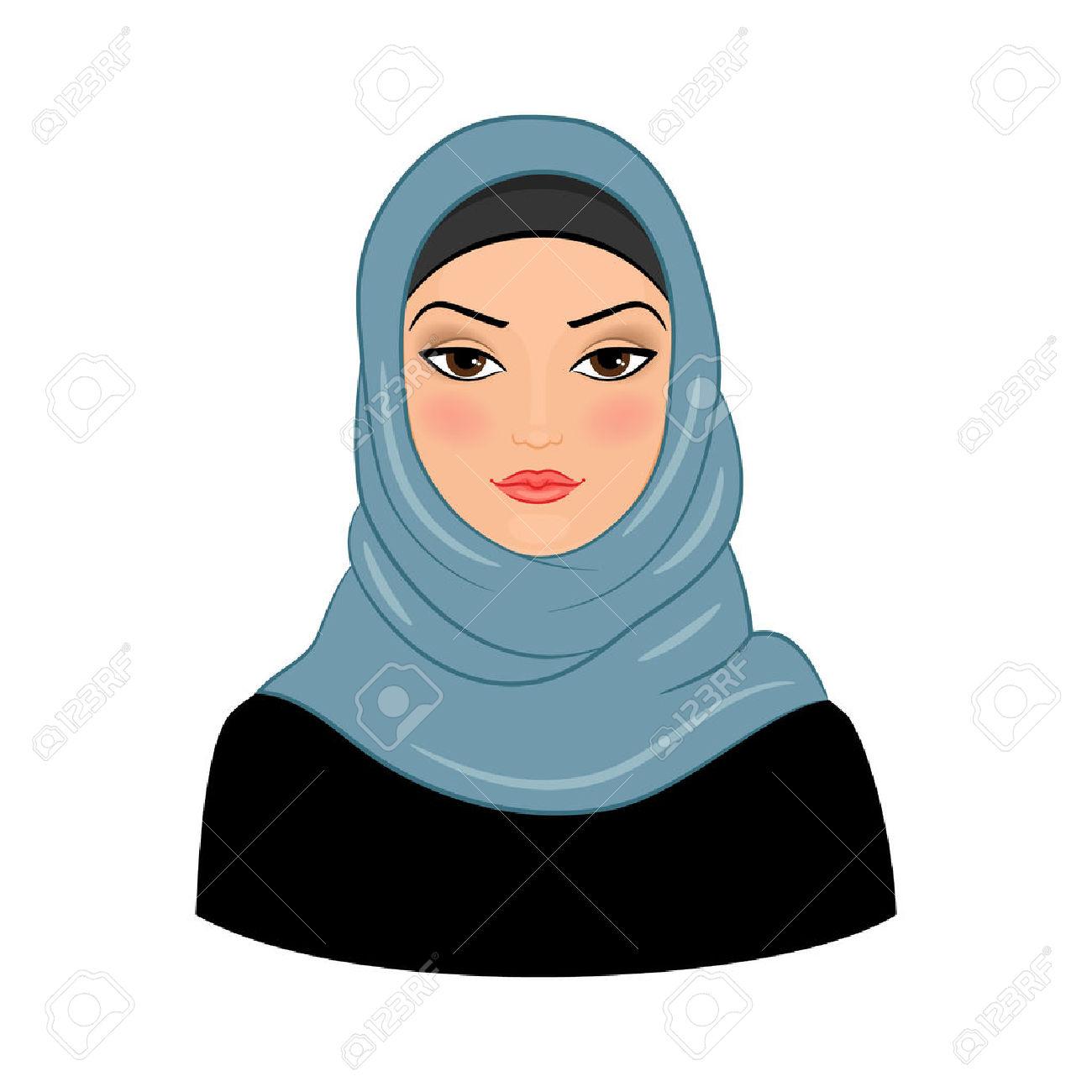 Free muslim woman clipart.
