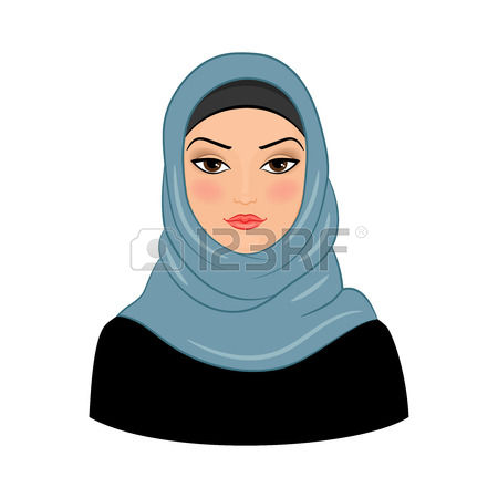 2,417 Muslim Girl Stock Vector Illustration And Royalty Free.