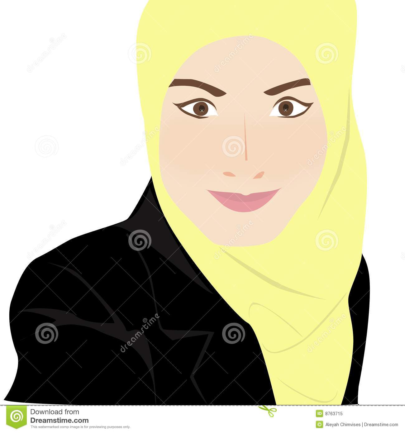 Muslim Woman Stock Illustrations.