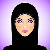 Muslim Woman Clip Art.