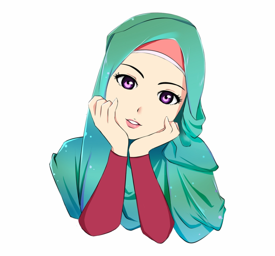Hijab Drawing Muslim Cartoon Islam Hq Image Free Png.