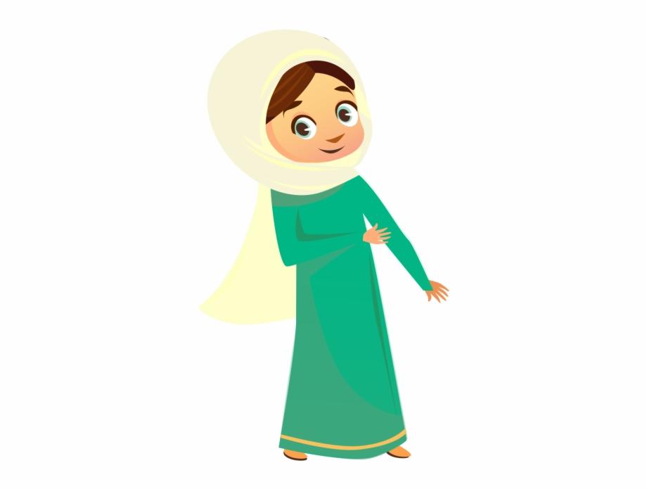 Muslim Girl Character.