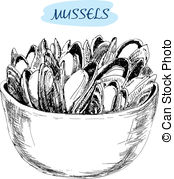 Mussels Stock Illustrations. 1,164 Mussels clip art images and.