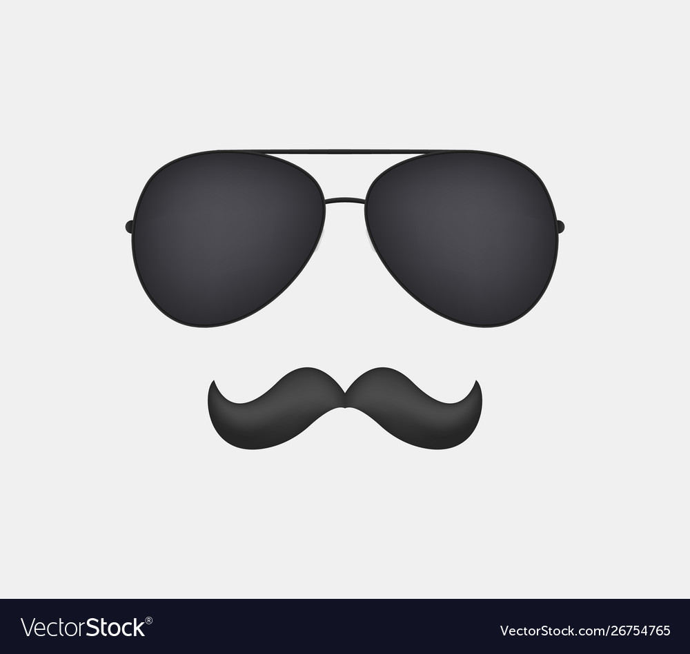 Sunglasses and mustache clipart.