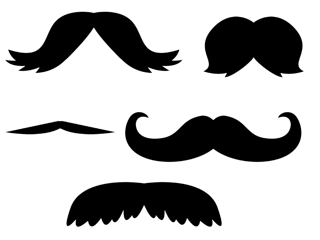 Mustaches Clip Art PNG No Background.