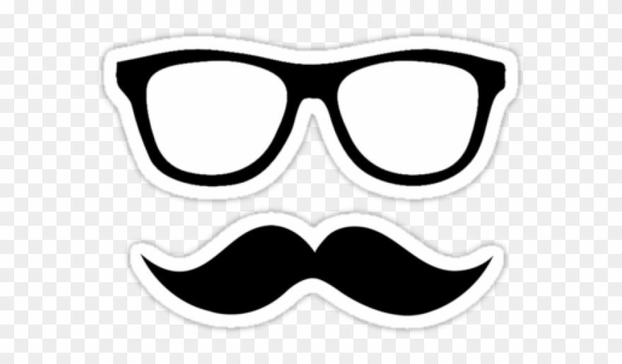 Mustache Clipart Nerdy Glass.