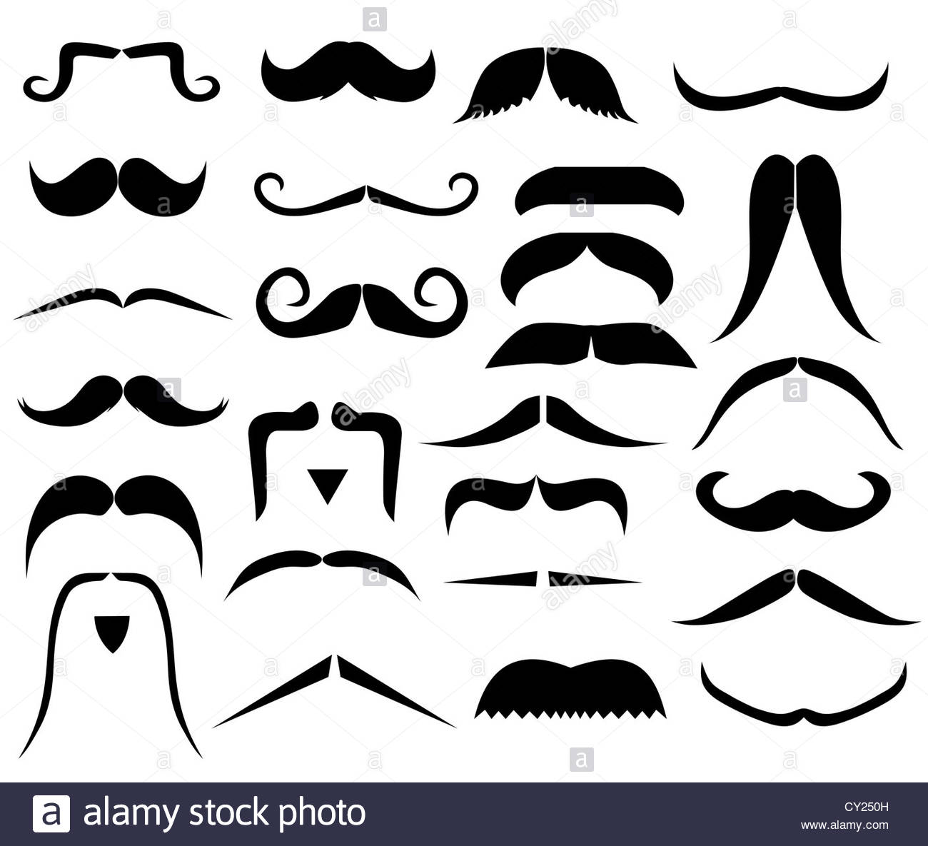Handlebar Mustache Black and White Stock Photos & Images.