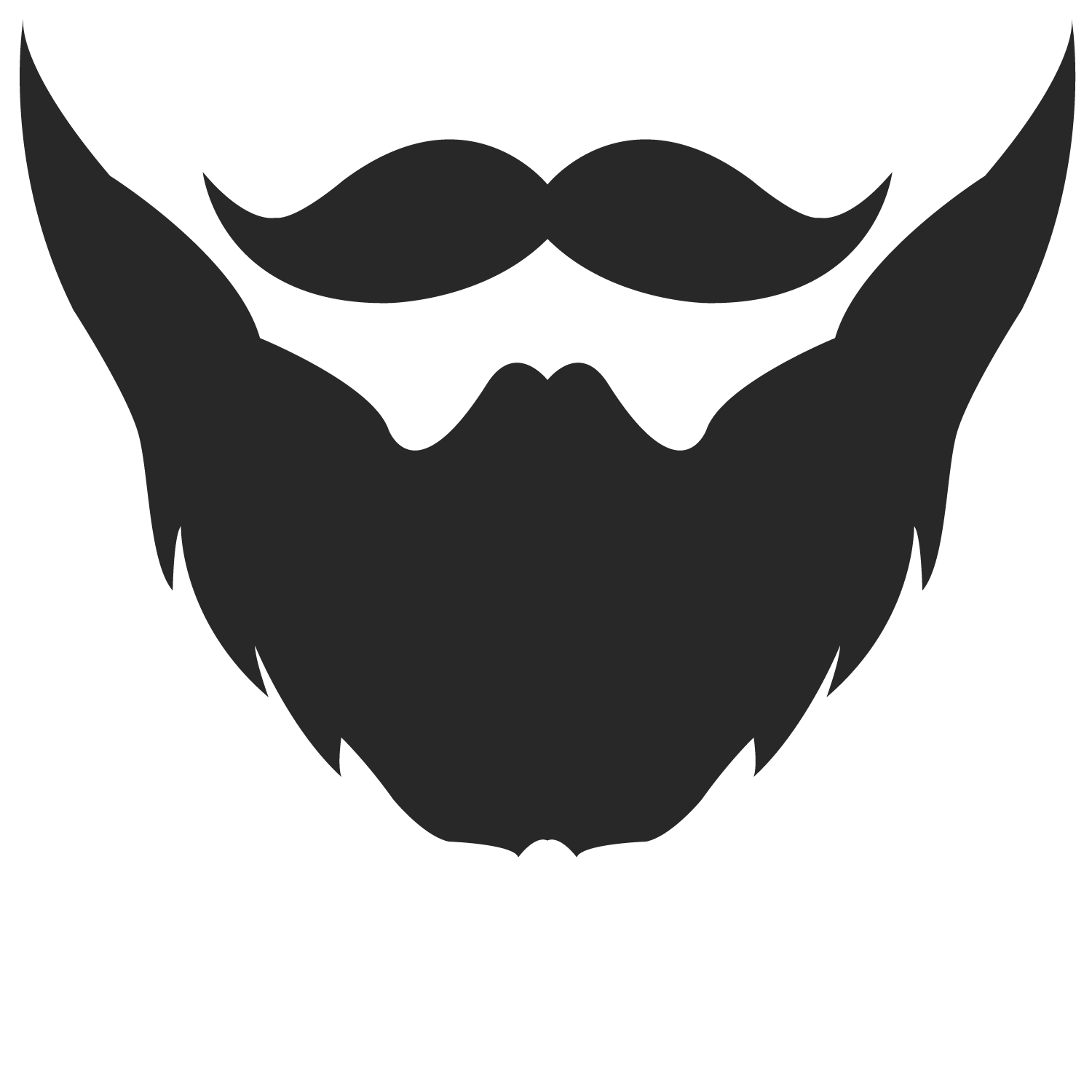 beard template for photo booth.