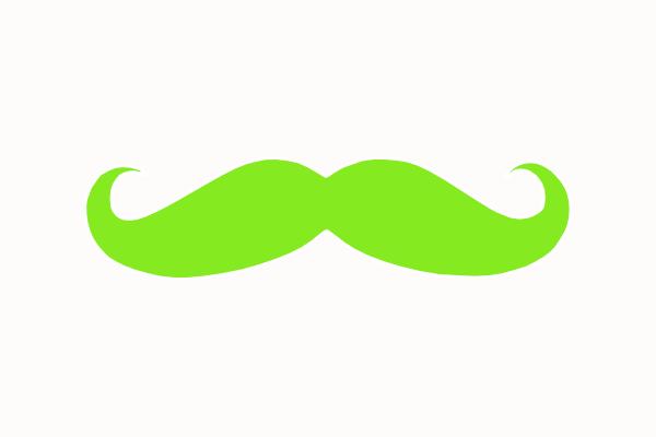 Free Mustache Clipart.