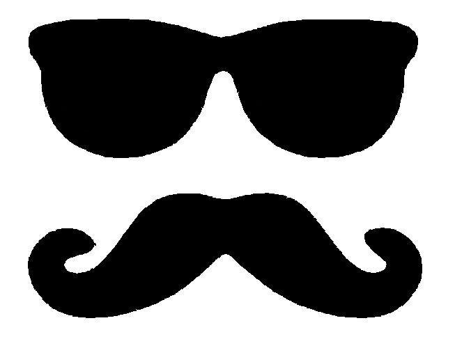 sunglasses and moustache.