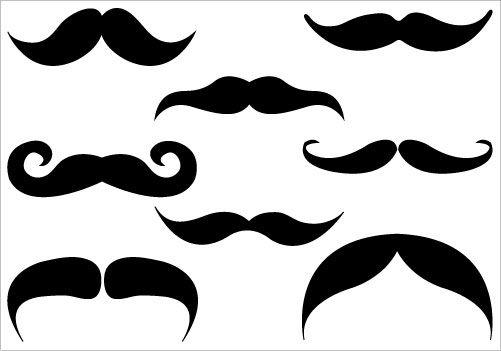 Mustache Silhouette Clip Art.