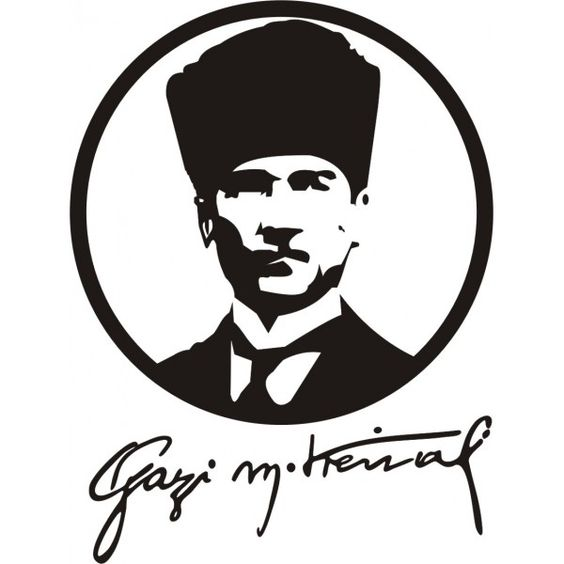 MUSTAFA KEMAL ATATÜRK SİLÜETİ sticker.