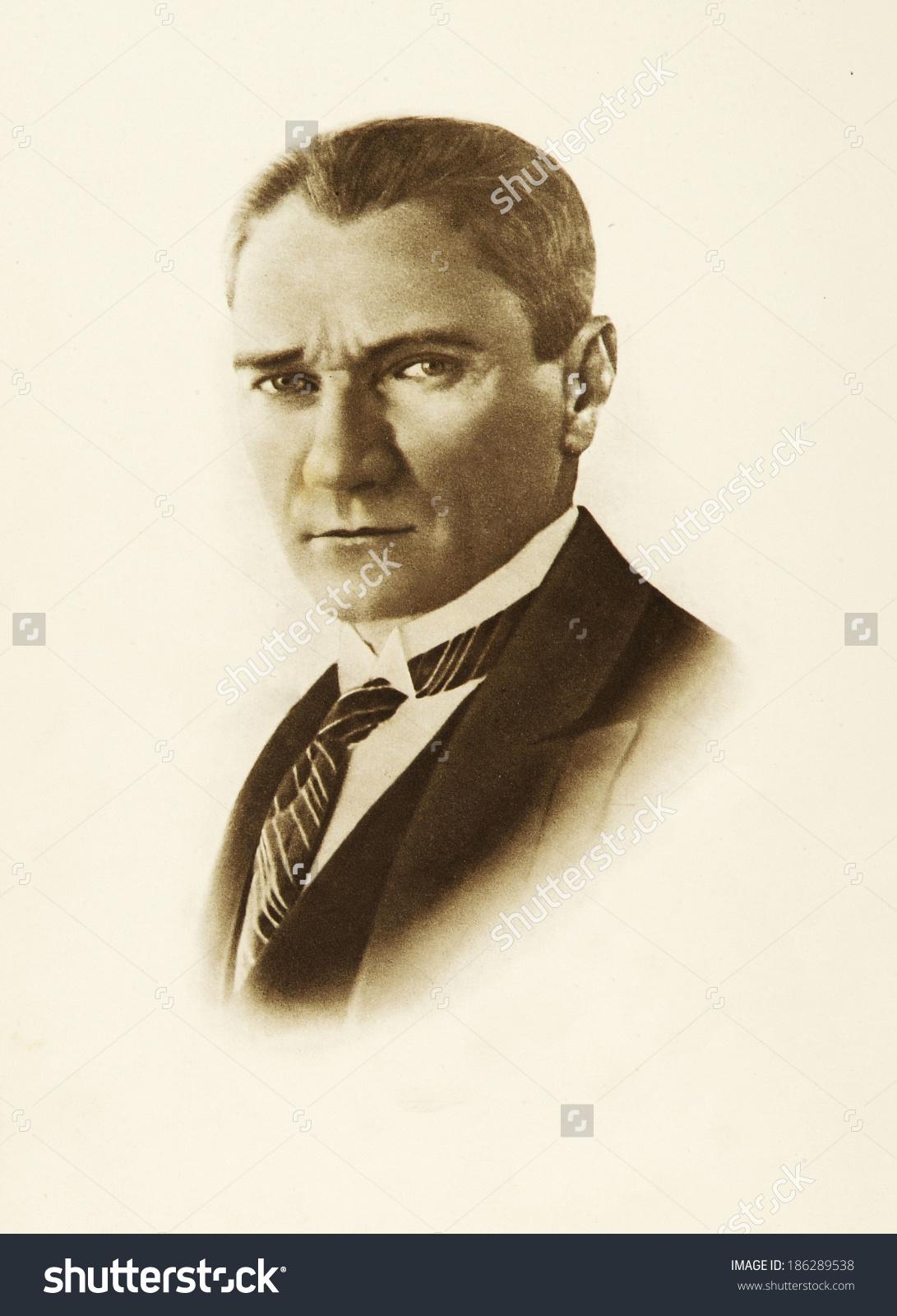 Istanbulturkeycir Ca 1920s Mustafa Kemal Ataturk Stock Photo.