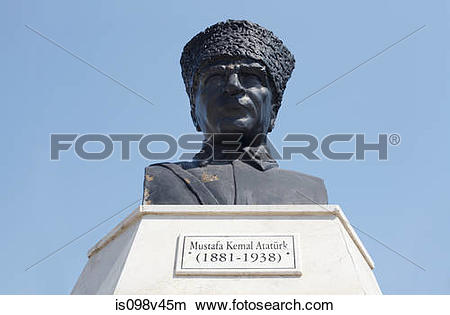 Stock Photo of Statue of Mustafa Kemal Ataturk, Turkey is098v45m.
