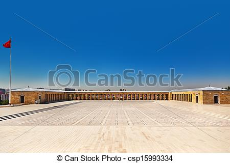 Stock Photos of Mustafa Kemal Ataturk mausoleum in Ankara Turkey.