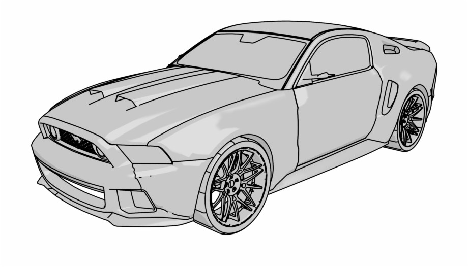 Mustang Gt Car Clipart Png.