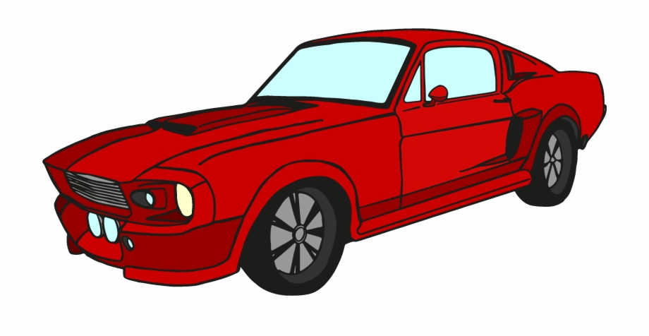 Vector Royalty Free Stock Classic Mustang Car Clipart.