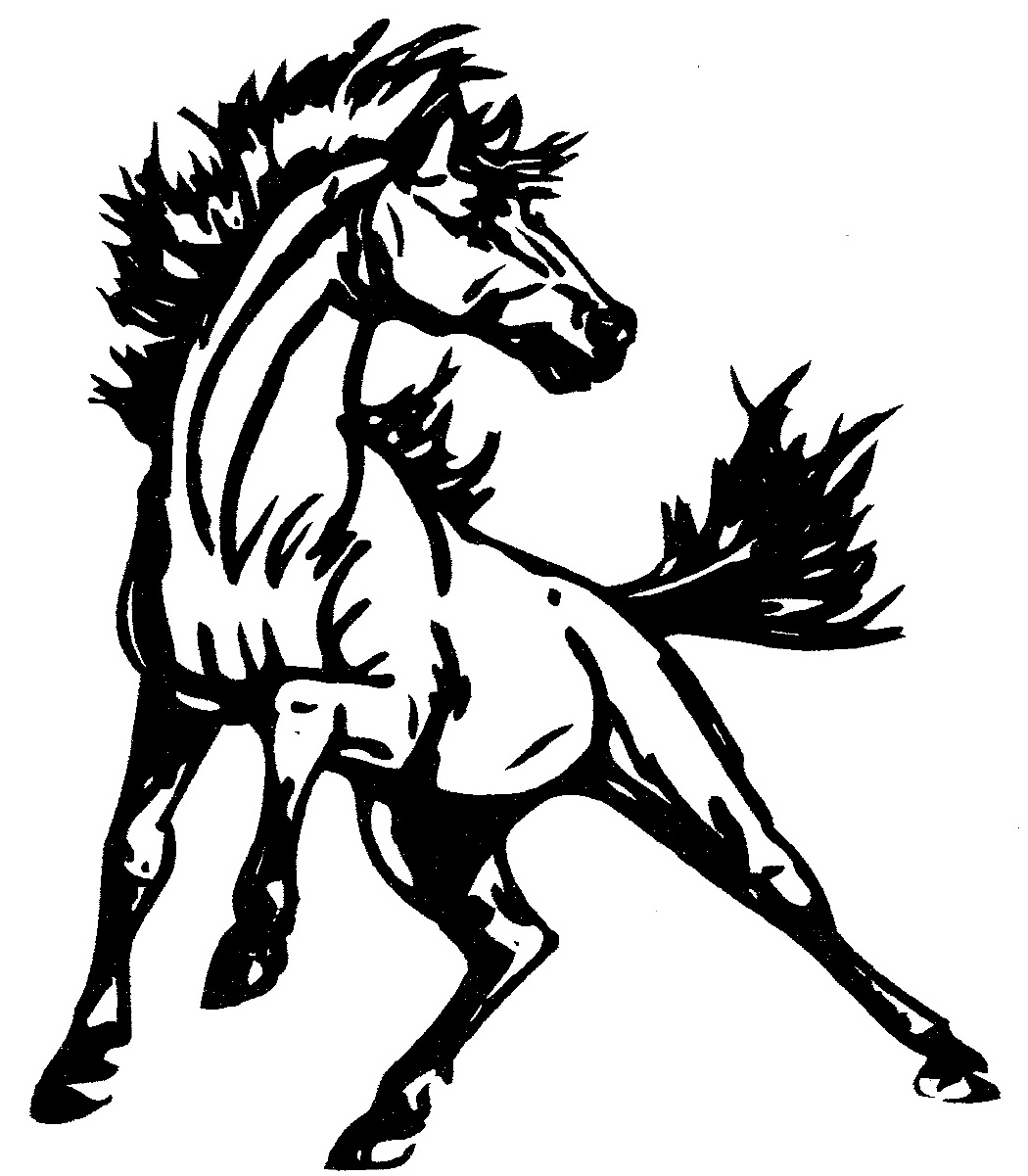 Mustang Horse Clipart.
