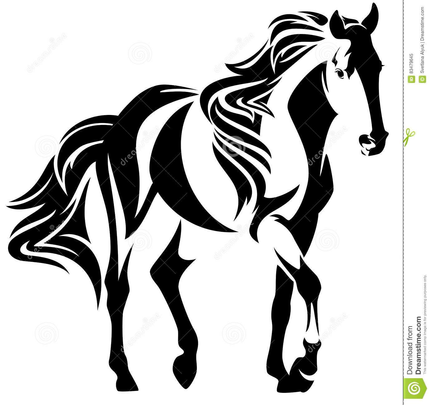 Mustang clipart black and white 6 » Clipart Portal.