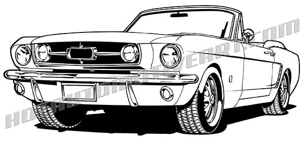 1965 Muscle Car Convertible.