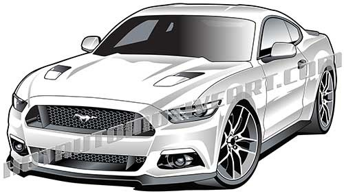 2015 Ford Mustang GT clipart by David England.
