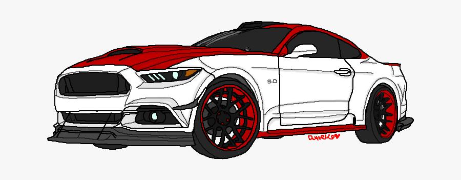 Drawing Mustang Gt.