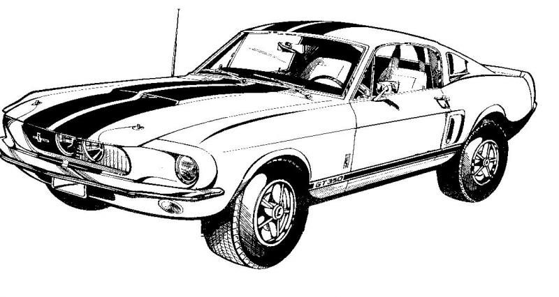Ford mustang gt clipart.