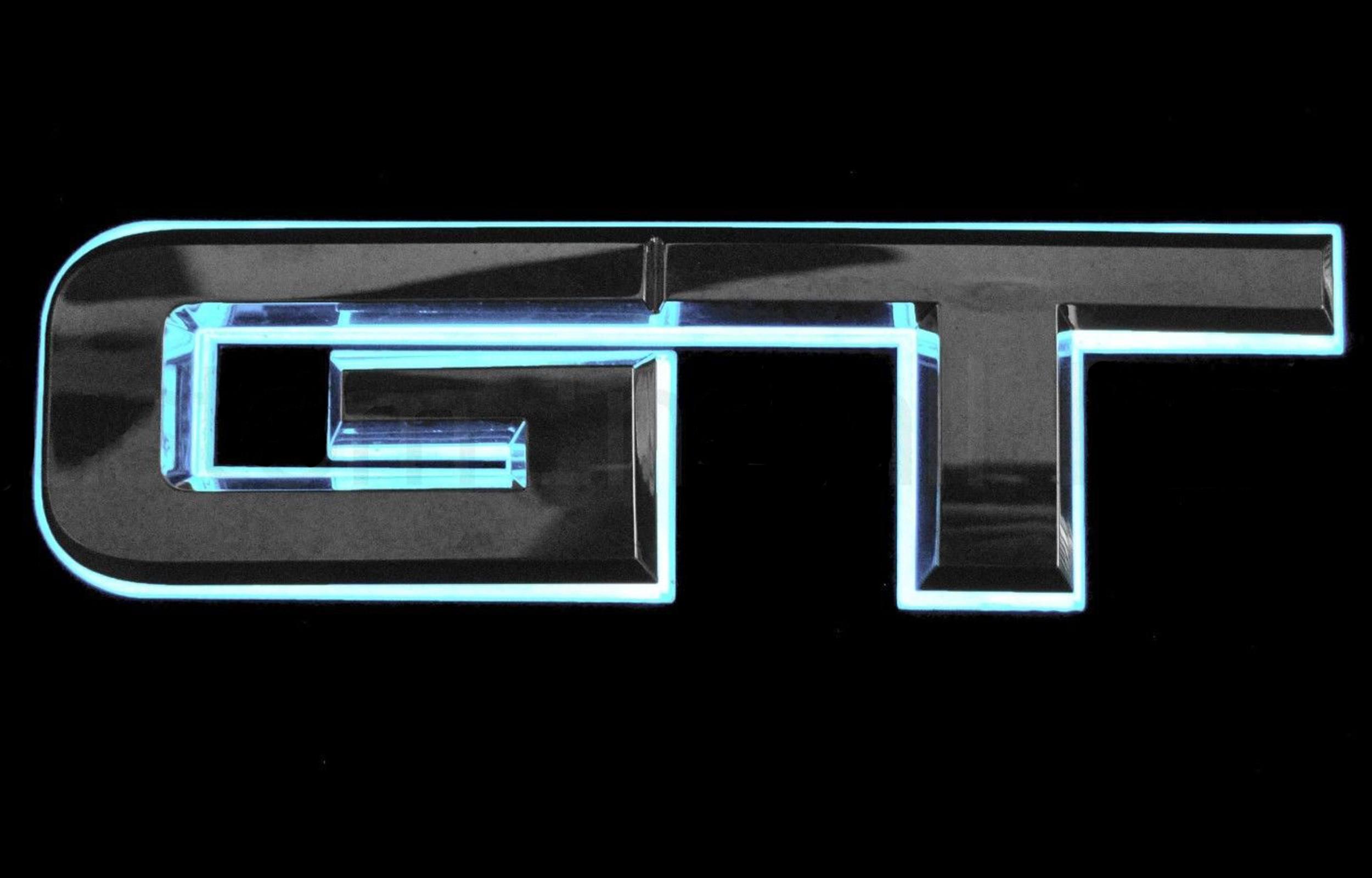 Rear GT Emblem White Light Up LED 94.